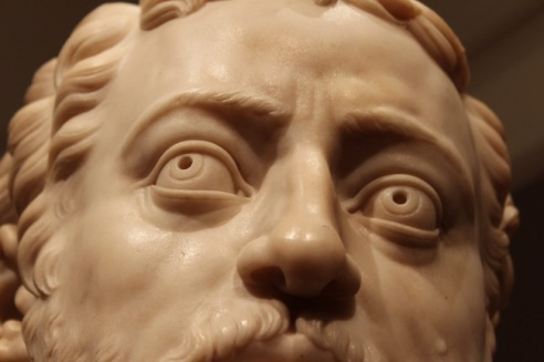 Creepy eyes!  Protrait of Cosimo I de' Medici, Grand Duke of Tuscany.  By Benvenuto Cellini, 16th century